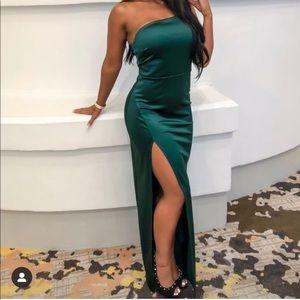 Gorgeous satin evening dress
